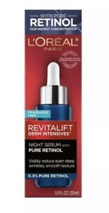 L'Oreal Paris Revitalift Derm Intensives Night Serum, 0.3% Pure Retinol - 1.0 oz