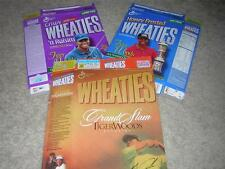 Three WHEATIES Tiger Woods Collector's Edition Boxes NEW/FLAT