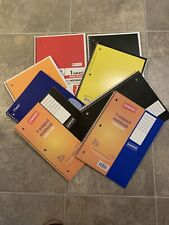Lot Of 8 Spiral Bound Notebooks 10 12 X 8 70 Sheets School Office Supples