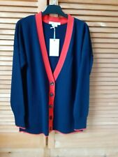 Boden Navy/Red Cardigan. BNWT.Size Small