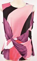 DKNY Women's Mutlicoloured Sleeveless Top, size SMALL