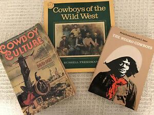 SET OF 3 BKS,COWBOYS OF THE WILD WEST/THE NEGRO COWBOYS/COWBOY CULTURE,PAPERBACK