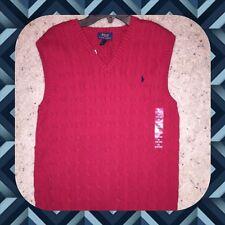 NWT Polo Ralph Lauren Boys Bristol red Classic sweater vest XL(18-20) Christmas