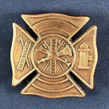 Firefighter Maltese cross metal belt buckle, (P)