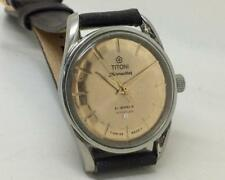 TITONI AIRMASTER TITOFLEX MANUAL WIND GOLDEN DIAL BOY SIZE VINTAGE WRIST WATCH