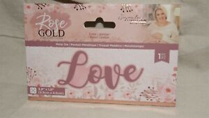 CRAFTER'S COMPANION - Rose Gold Collection - LOVE - Metal Die - NEW!