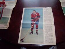 Boom Boom Geoffrion La Patrie Du Dimanche photo Montreal Canadians 1961-62