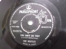 """THE BEATLES CANT BUY ME LOVE YOU CANT DO THAT  RARE SINGLE 7"""" 45 INDIA G-"""