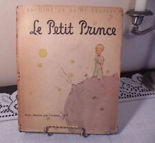 Antique French Children's Book Le Petite Prince 1943 Hardcover with Jacket