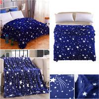 Couverture doux polaire canapé-lit flannel chaude grande Star hiver Microplush