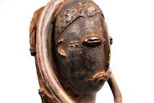 Art Africain Tribal - Rare Masque Funéraire Wan - No Guro Gouro Baule - 48 Cms