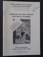 Catalogue de vente Affiches des 2 guerres DROUOT 1990 poster WW1 WW2