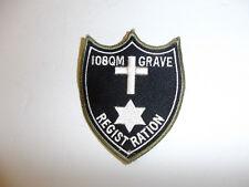 b1526 WW 2 US Army 108 QM Grave Registration Quarter Master R9A