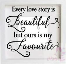 Every Love Story Is Vinyl Decal Sticker for DIY IKEA Ribba Boxframe