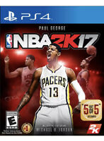 NBA 2K17 Ps4 Playstation 4 Game Disc Only 55m