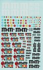 decals decalcomanie decalque deco m ms m&ms pub rally 1/43