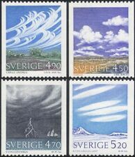 Sweden 1990 Cloud Formations/Weather/Meteorology/Clouds/Ships/Sail 4v set (s380)