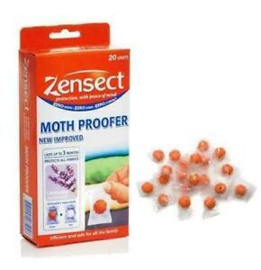 Zensect Moth Proofer 2-60 Balls Pack Lavender Killer Freshener Fabrics Repellent