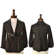 Anthropologie Blazer Zinc Plaid Jacket Size Small 4 6 NWT Printed Belted $185