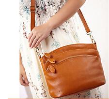 Women's Cross Body Messenger Bag Handbags Purses Real Cow Leather Shoulder Bags