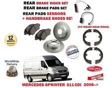 für Merzedes Sprinter 311 CDI 2006- > Bremsscheiben SET HINTEN + Belag + Backe