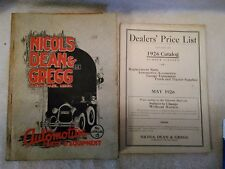 1926 Nicols, Dean, & Gregg Automotive Parts & Equip. Catalog #15 & Dealers Price