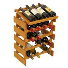 Wooden Mallet 20 Bottle Dakota Wine Rack with Display Top Medium Oak NEW