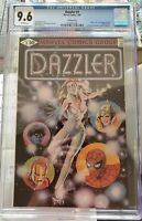 Dazzler #1 B&W Ad Print Error Variant CGC 9.6 NM+ White Pages