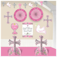FIRST COMMUNION ROOM Party Decorations Table Wall Banner Religious Ceremony Girl