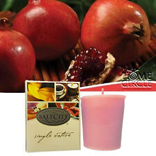 Salt City Pomegranate Fragrance Fragrant Scent Votive Small Candle 10-15 Hours