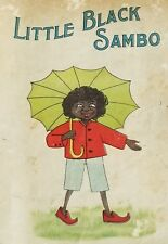 RARE ANTIQUE LITTLE BLACK SAMBO SOFT COVER LITHOGRAPH ADVERTISING BOOK BANNERMAN