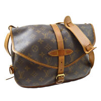 LOUIS VUITTON SAUMUR 30 MESSENGER SHOULDER BAG AR0933 MONOGRAM M42256 M15546