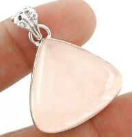 Rose Quartz 925 Sterling Silver Pendant Jewelry, JH6-5