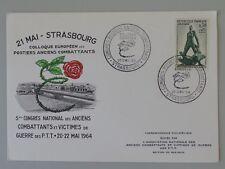 FDC 1411 France carte congrès national des anciens combattants 20-22 mais 1964