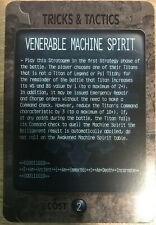 Adeptus Titanicus Venerable Machine Spirit promo Card