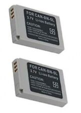 2 NB-5L Batteries for Canon S100 SD700 SD790 SD800 SD850 SD870 SD880 SD890 SD900
