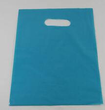 "10 20"" x 5"" x 20"" NEW BLUE GLOSSY Low-Density Premium Plastic Merchandise Bags"