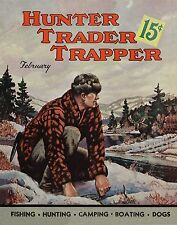 Trapping Vintage Magazine Poster Art  Antique Traps Supplies Catalog Furs MAG44