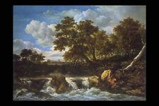 357044 Landscape With Waterfall Jacob Van Ruysdael A4 Photo Print
