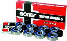 Bones Swiss 6 - Skateboard Bearings - Pack of 8 high speed bearings