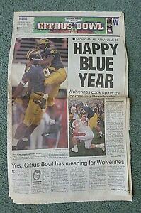 1/2/1999 Orlando Sentinel newspaper-Michigan vs Arkansas - Citrus Bowl