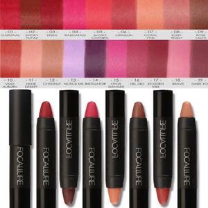 Women Metallic Matte Waterproof Lipsticks Lip Gloss Long-lasting Makeup Crayon
