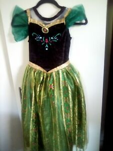 used PRINCESS ANNA coronation dress costume age 7/8 and FROZEN DVD