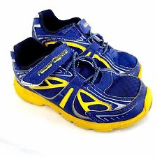 Stride Rite Racer Lights Bold Sneaker Shoes Size 10M Boy Toddler Kid Navy Yellow
