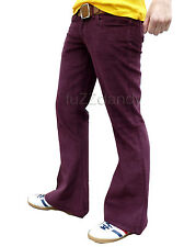 FLARES mens cords bell bottoms 70's vtg fancy hippie jeans Pants dress trousers
