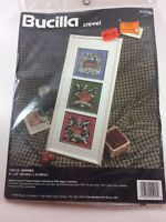 "Bucilla crewel embroidery kit 41213 8"" X 22"" 1995 Trio of Berries Vintage Sealed"