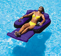 Swimline 9047 Ultimate Fabric Inflatable Tahoe Nylon Swimming Pool Lounge Float