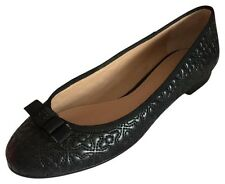 TORY Burch nera in pelle Bryant Quilted Ballet Flat US9.5 UK 6.5