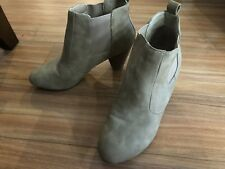 Pre-Owned Isabella Brown Beige Suede Ankle Boots Womens Size 8