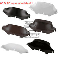 "6""/8"" Wave Windshield Windscreen For 96-13 02 06 Harley Touring FLHT FLHTC FLHX"